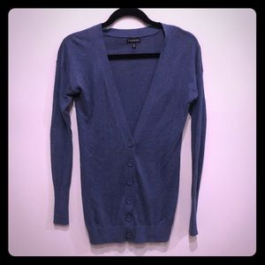 Blue/grey button down cover up sweater